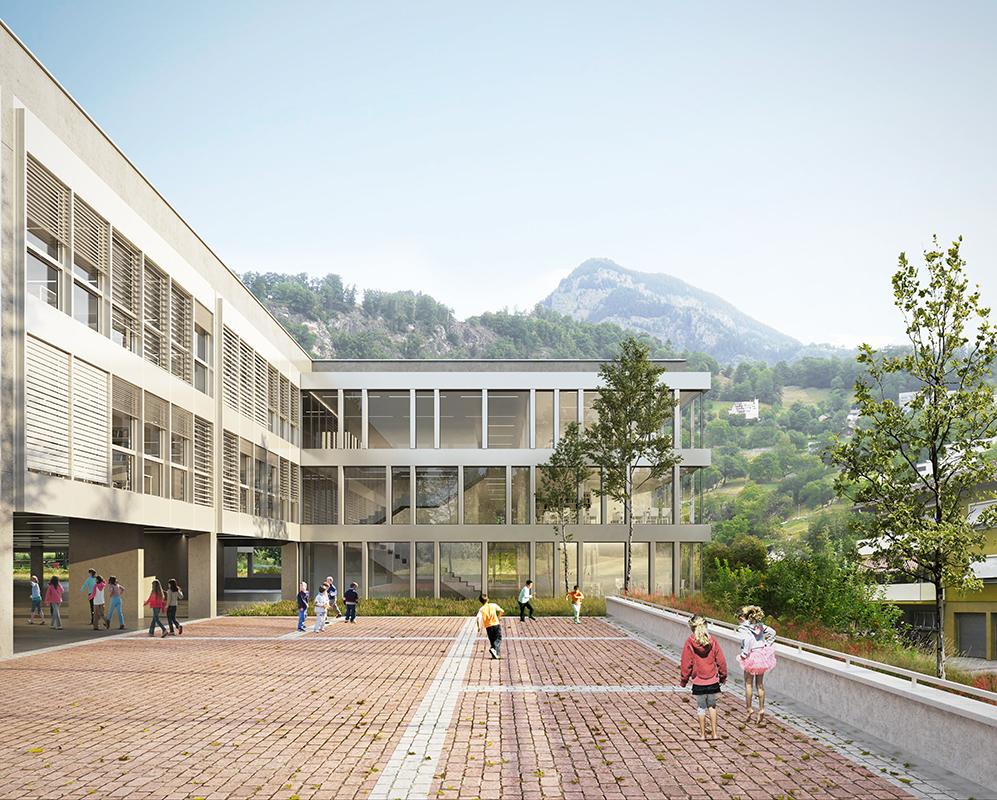 Neubau Primarschulhaus Campus Bammatta in Naters - 2018 - 4ème prix - cheseauxrey sàrl
