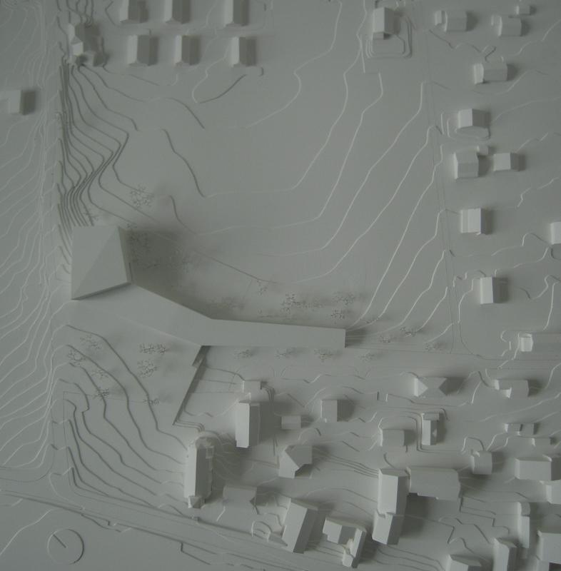 maquette de la construction d'une école et d'un EMS à Muraz - 2010 - cheseauxrey sàrl