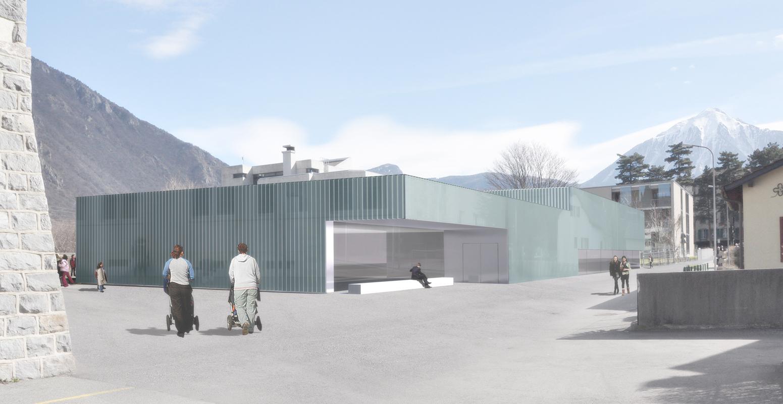 construction d'une salle de sport, d'une uape, de locaux de service et de surfaces administratives pour la commune de Vernayaz - 2ème place / 1er prix