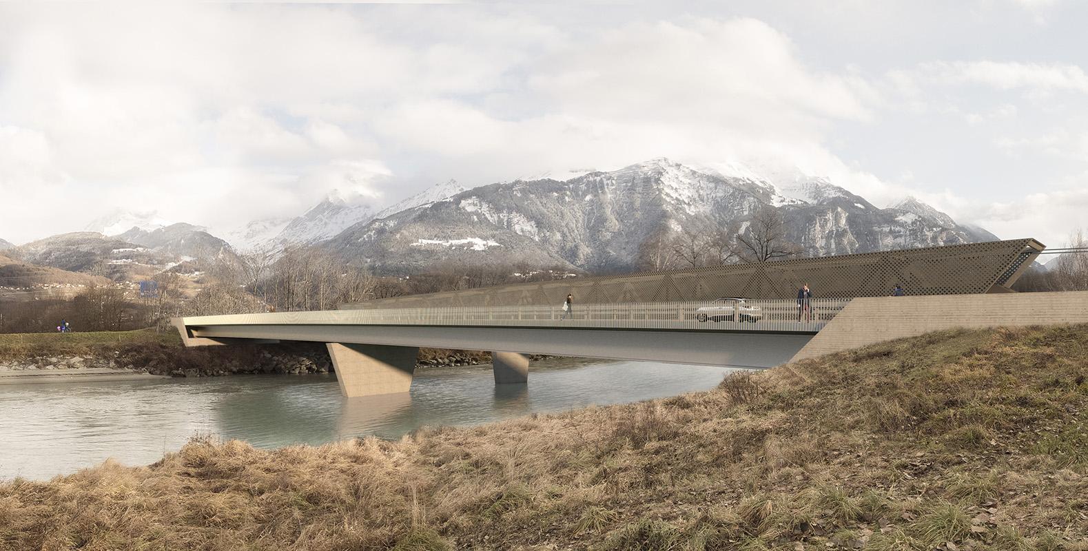 concours d'ingénierie pour la construction d'un pont ferroviaire et d'un pont routier, St-Triphon - 2017 - cheseauxrey sàrl
