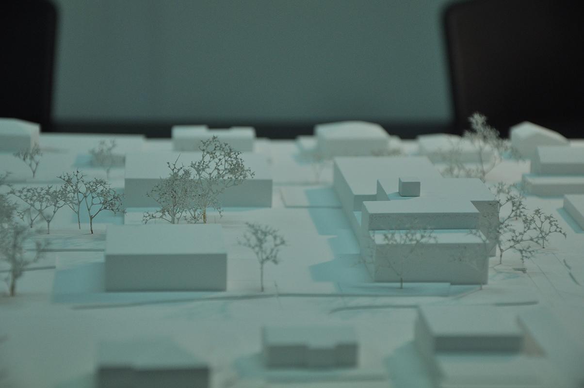 maquette pour le concours d'architecture pour une école et des locaux pour les enfants à Ardon- 2016 - cheseauxrey sàrl