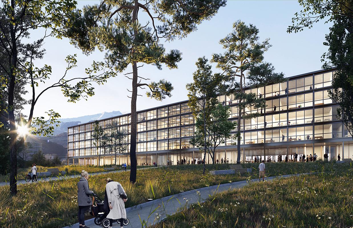HES-SO valais/wallis - campus pôle santé - site hôpital du valais à sion - 2019 - cheseauxrey sàrl