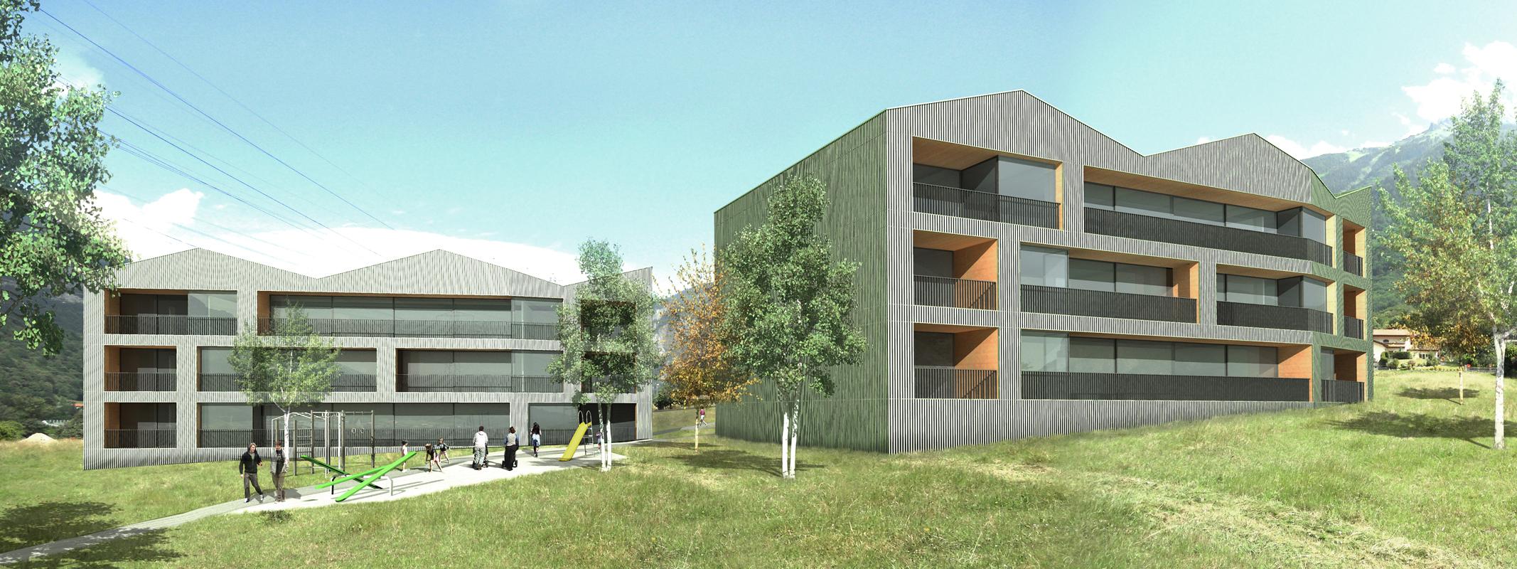 construction d'immeubles d'habitations à collonges - 2011 - 1er prix - cheseauxrey sàrl