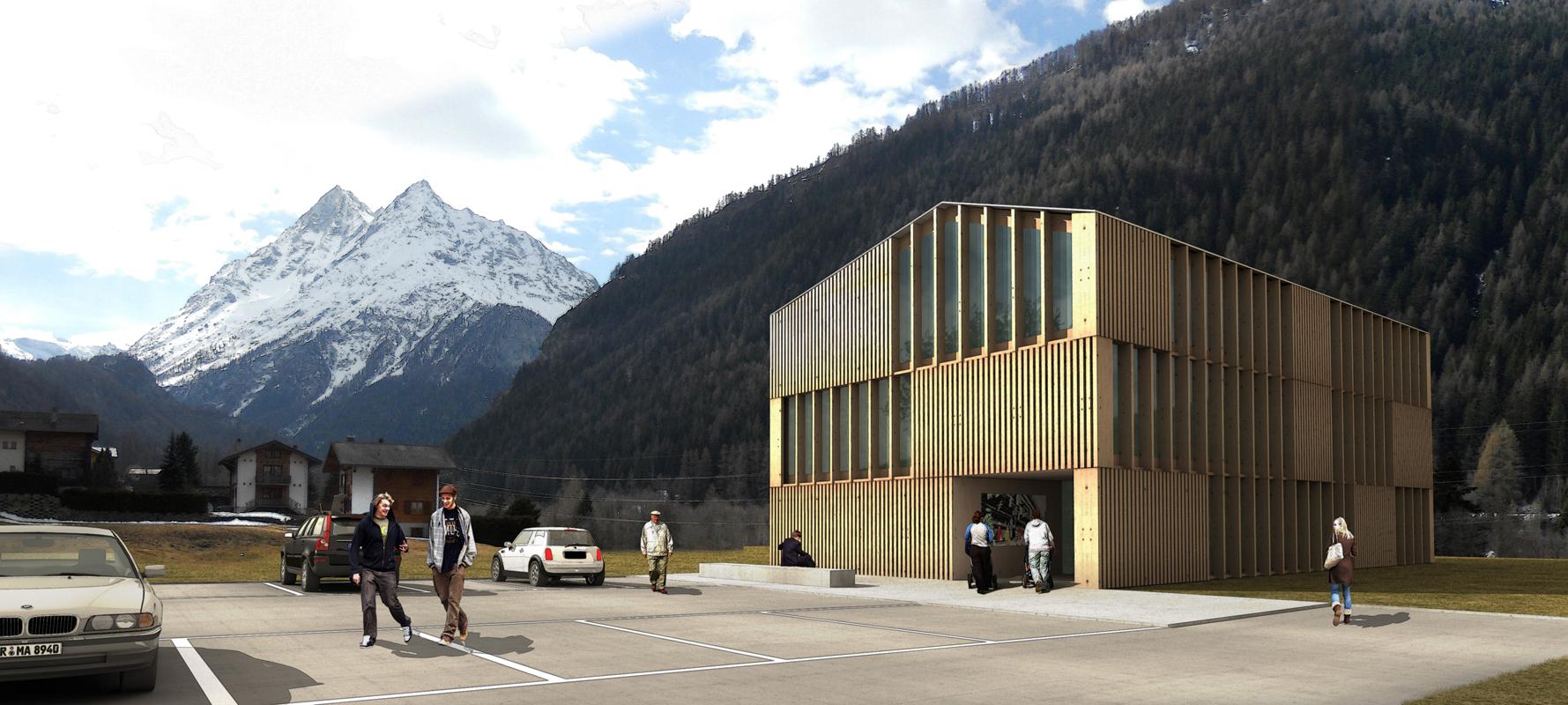 construction d'un centre administratif communal à évolène - 2011 -  4ème prix - cheseauxrey sàrl