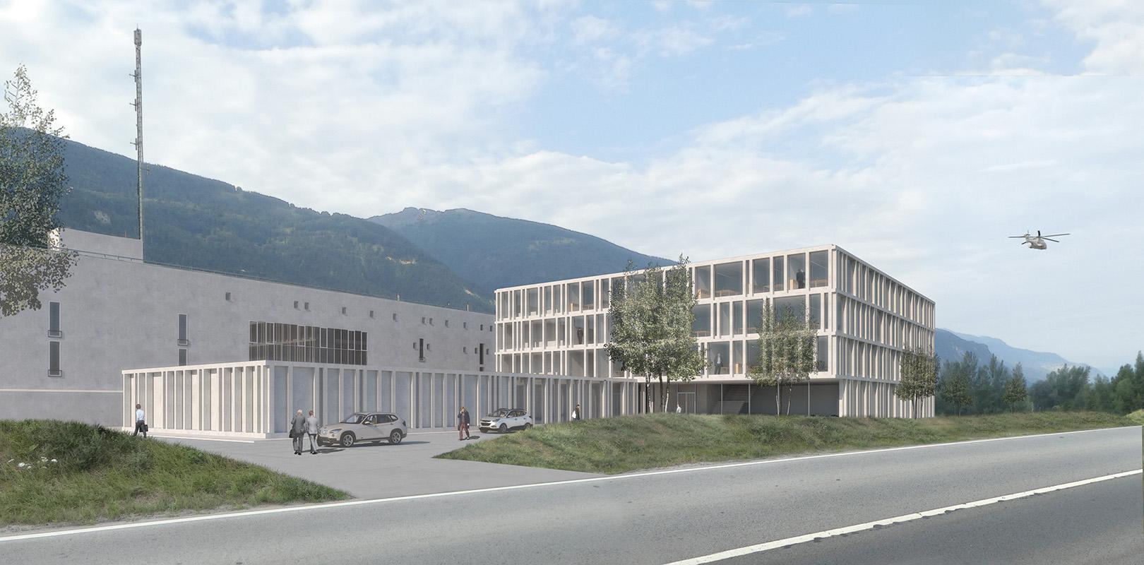 réunion sous un même toit des centrales d'engagements 112 /117/118/144 à sierre - 2018 - 5ème prix - cheseauxrey sàrl