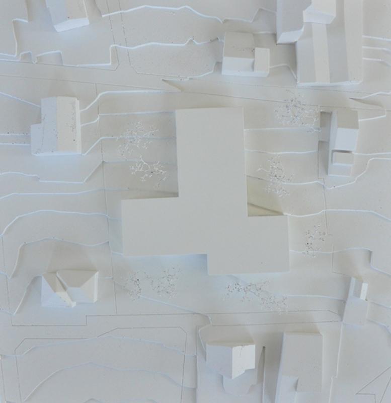 maquette d'une construction d'un ems à leytron - 2012 - 1er prix - cheseauxrey sàrl