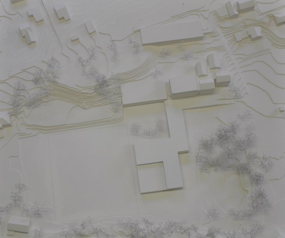 maquette de l'agrandissement de l'école de grimisuat - 2014 - cheseauxrey sàrl