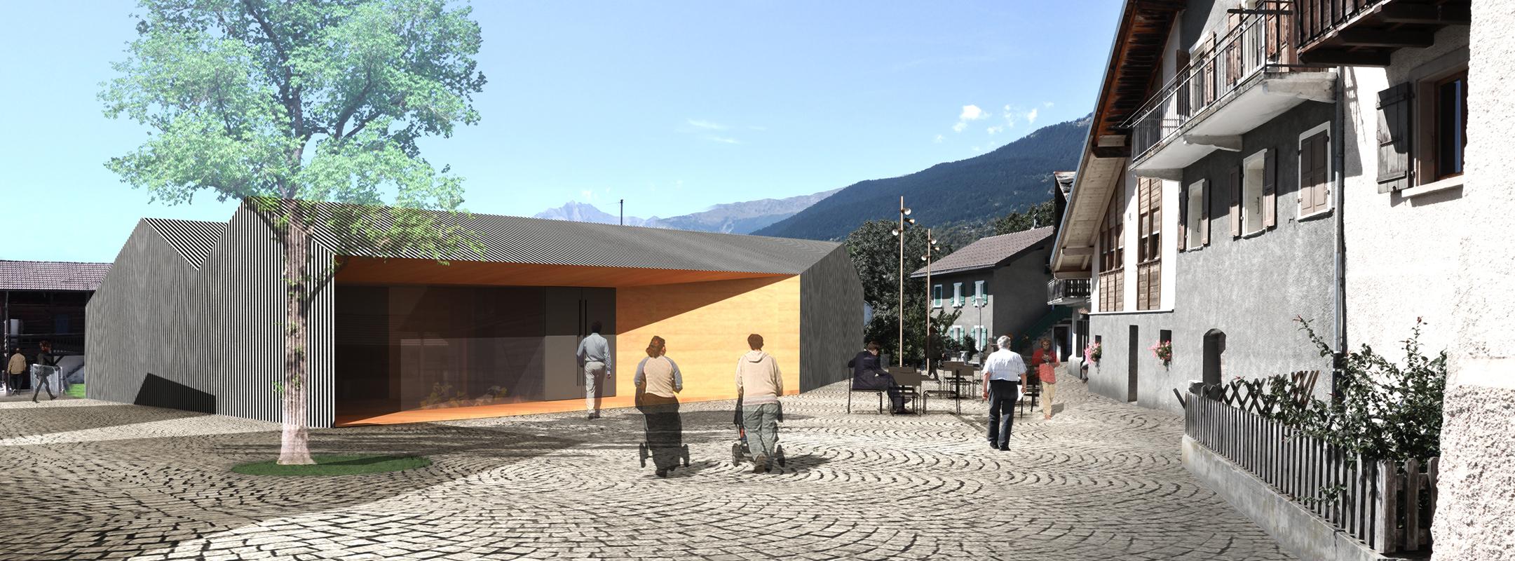 aménagement du centre du village de grimisuat - 2011 - cheseauxrey sàrl