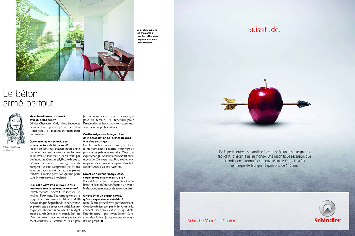 Habitation à Saillon - magazine Idea