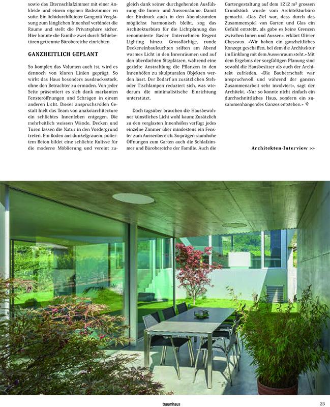 Habitation à Saillon - magazine Traumhaus