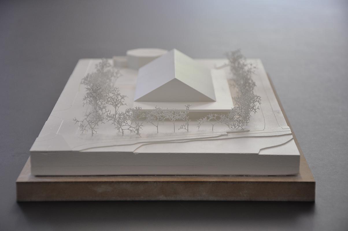 maquette pour le concours d'architecture pour la rénovation et l'agrandissement de la salle polyvalente de Châteauneuf-Conthey - 2016 - 1er prix - cheseauxrey sàrl